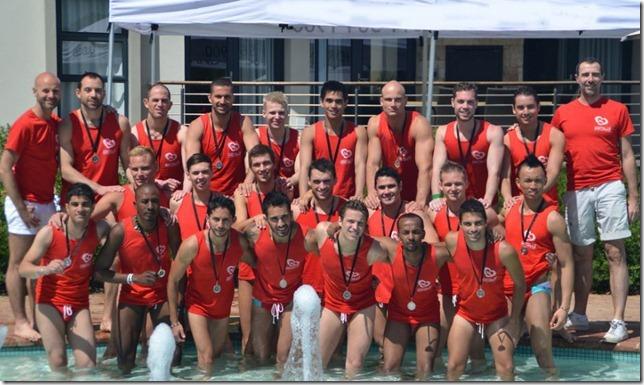 Los 22 candidatos durante la prueba deportiva en el hotel Fairway